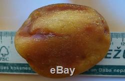 83.92 gm Vintage Butterscotch Egg Yolk Color Genuine Natural Baltic Amber Stone