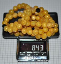 84.3 gr. Egg Yolk Butterscotch Natural Baltic Amber Stone 108 Prayers Mila