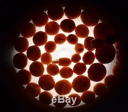 85.5 gram Antique Natural BALTIC AMBER Necklace Round Bead Egg Yolk Butterscotch