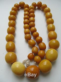 85.6 gr. OLD BUTTERSCOTCH NATURAL BALTIC AMBER NECKLACE