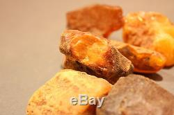 9 Stück (15-20g) Echter Roh Bernstein Rar Amber Stones Natural Baltic 140 Gramm