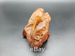 AMBER BALTIC STONE 436 Gr NATURAL RAW ROCK GENUINE Multicolor h54