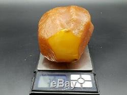 AMBER STONE 394 Gr NATURAL BALTIC RAW Pendant GENUINE ROCK Multicolor h6