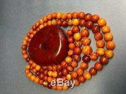 ANTIQUE Amber Baltic Prayer Beads 100% NATURAL 36Gr