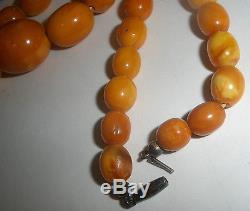 ANTIQUE ESTATE Natural Butterscotch Egg Yolk Baltic Sea Amber Necklace Beads