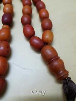 ANTIQUE Genuine NATURAL Baltic amber PRAYER beads Custom hand Made 72.9 GR TESTE