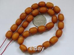 ANTIQUE NATURAL BALTIC AMBER BEADS REAL AMBER 22g RARE SUPER OLD AMBER