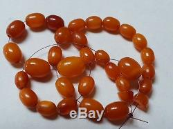 ANTIQUE NATURAL BALTIC AMBER BEADS REAL GENUINE OLD AMBER 11 grams! No. JK8