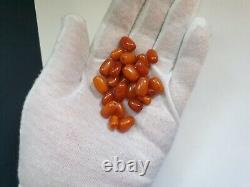 ANTIQUE NATURAL BALTIC AMBER BEADS REAL VERY OLD AMBER 11.9 grams 27 beads
