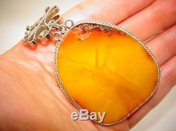 Amber Antique Natural Baltic Egg Yolk Butterscotch Amber Pendant