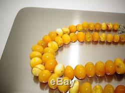 Amber Antique Vintage Natural Baltic Egg Yolk Butterscotch Amber Necklace
