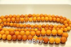Amber Antique Vintage Natural Egg Yolk Butterscotch Baltic Amber Necklace