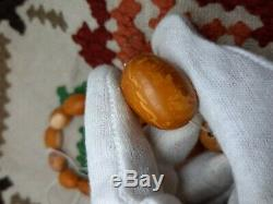 Amber Baltic Tiger Olive beads old natural rare Perfect landscape, bernstein