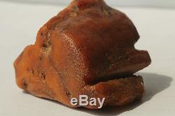 Amber Baltic Vintage Antique Natural Stone 87.8 g Egg Yolk Jewellery