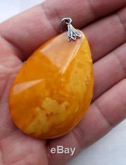 Amber Natural Butterscotch Egg Yolk Baltic Pendant