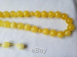 Amber Rosary Baltic Prayer 33 Beads 100%Natural Islamic Tesbih 15.6mm 80 Gr RO39