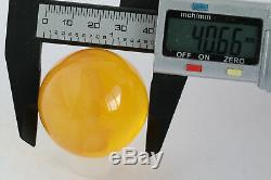 Amber bead 38.1g 40mm pendant no hole 100% natural Ball