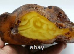 Amber raw stone 1039g natural baltic rock z28