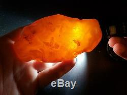 Amber raw stone 111g natural baltic rock h65