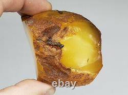 Amber raw stone 136g natural baltic rock l1