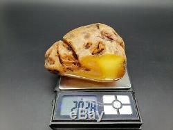 Amber raw stone 202g natural baltic rock j33