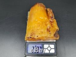 Amber raw stone 238g natural baltic rock j4