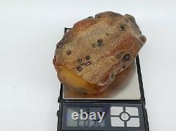 Amber raw stone 263g natural baltic rock m18