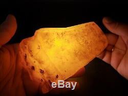 Amber raw stone 291g natural baltic rock b10