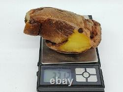 Amber raw stone 331g natural baltic rock l17