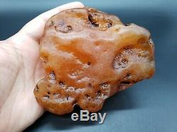 Amber raw stone 387g natural baltic rock b24