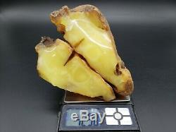 Amber raw stone 429g natural baltic rock j28