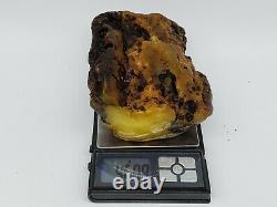 Amber raw stone 460g natural baltic rock e34