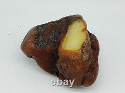 Amber raw stone 477g natural baltic rock e29