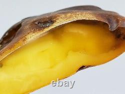 Amber raw stone 482g natural baltic rock l26