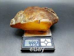 Amber raw stone 499g natural baltic rock k32