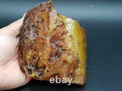 Amber raw stone 633g natural baltic rock 16