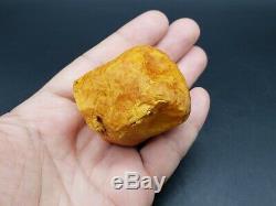 Amber raw stone 65g natural baltic rock b26