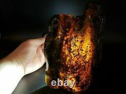Amber raw stone 862g natural baltic rock b2