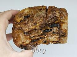 Amber raw stone 895g natural baltic rock l27
