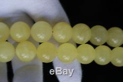 Amber rosary 100.4g 15mm natural Baltic misbah tesbih 46 kahrab Polandi beads