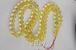 Amber rosary 46.4g 9.5mm natural Baltic misbah tesbih 75 beads kahrab Polandi