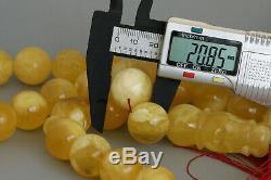 Amber tesbih 188. G 20.0mm 35 beads rosary 100% natural Baltic kahrman misbah