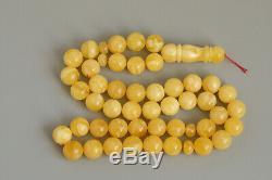 Amber tesbih 99.5g 15.0mm 45 beads rosary 100% natural Baltic kahrman misbah