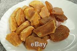 Ancient Baltic natural amber stones 234 grams