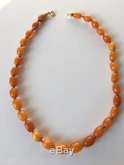 Antik Bernstein Kette Antique Natural Baltic Butterscotch Amber Necklace