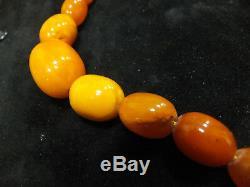 Antik Bernstein Kette Collier Natural Baltic Butterscotch Amber Necklace 40g