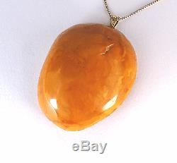 Antik baltischer Bernstein Anhänger Natural Baltic Amber Pendant 24,44 g