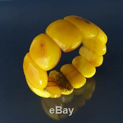 Antik baltischer Bernstein Armband Antique Natural Baltic Amber Bracelet 34 g