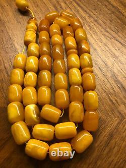 Antique Baltic Amber Butterscotch Rosary 100 % Natural 76.3 g