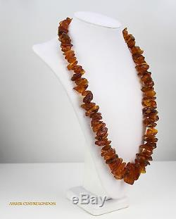 Antique Baltic German Natural Amber Necklace 154,2g A0612- RRP£1500